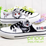 Noctilucent Shoes, Tokyo Ghouls, Kaneki Mask sneakers, Canvas Style Shoes
