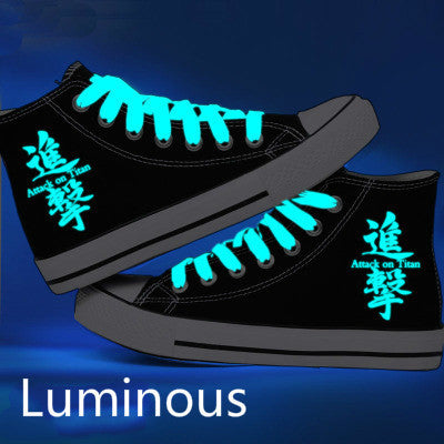 Attack on Titan Shoes, High Platform Canvas, Shingeki no Kyojin, Luminous Shoes
