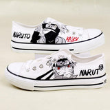 Naruto Red Eyes Shoes, Low top Canvas Hand-Painted Shoes