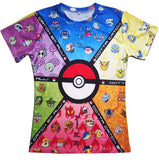 Pokemon | T-shirt | Casual 3D Short Sleeve 16 Styles