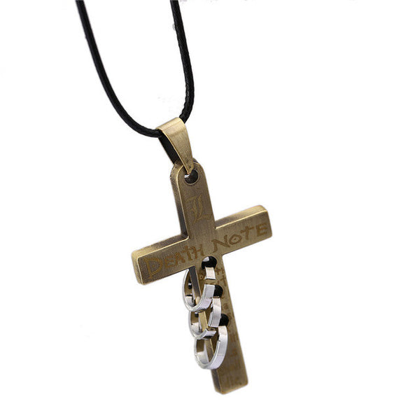 "Death Note | Necklace | Cross Alloy with ""L"" Logo 4 Styles"