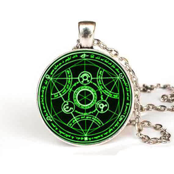 Full Metal Alchemist | Necklace |  Transmutation Green Circle Style
