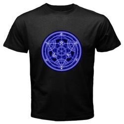 Full Metal Alchemist | T-shirt | Seal Homonculus Logo Black/White Style