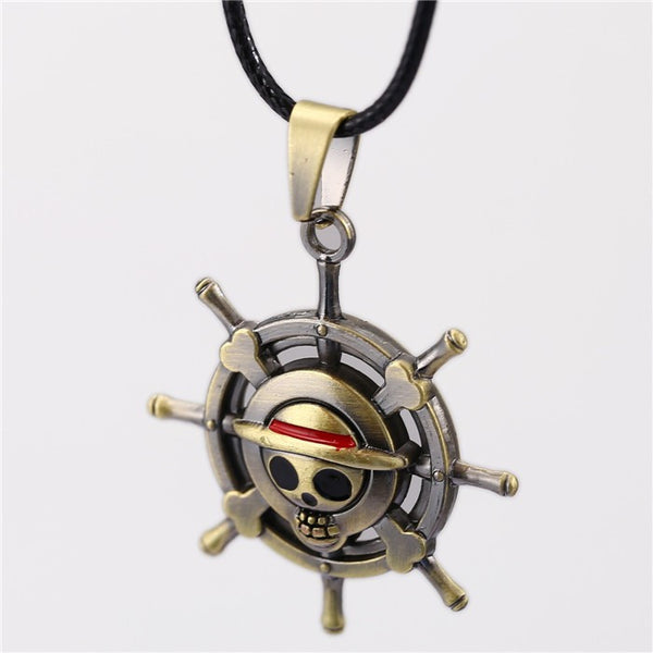 One Piece | Necklace | Skull and Pirate Flag Metal Pendant Style