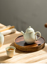 high quality two tone bamboo tea tray gong fu