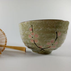 Moss & Blossom Matcha Tea Ceremony Bowl, Scoop and Whisk Gift Set