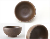 Coarse Finish, Partial Glaze Gong Fu Tea Cup