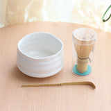 Matcha Tea Set with Whisk, Scoop and Optional Bamboo Tea Canister