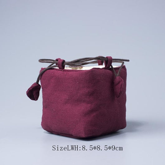Handmade Gongfu Travel Bags for Easy Gaiwan Tea Sets, Many Colors