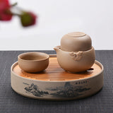 Tan Easy Gaiwan Two Cup Teaset