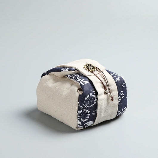 Indigo Lotus Japanese Style Padded Travel Bag