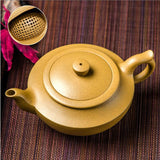 yixing clay unglazed tea pot gong fu chinese aladdin's lamp high quality yellow
