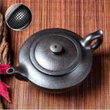yixing clay unglazed tea pot gong fu chinese aladdin's lamp high quality black clay