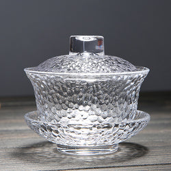 Dimpled Glass Gaiwan