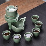 Self Dispensing Kung Fu Tea Set in Celadon Glaze