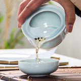 Celadon Blue Beta Fish Easy Gaiwan