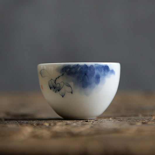 Fine Porcelain Hand Painted Lotus Tea Cup