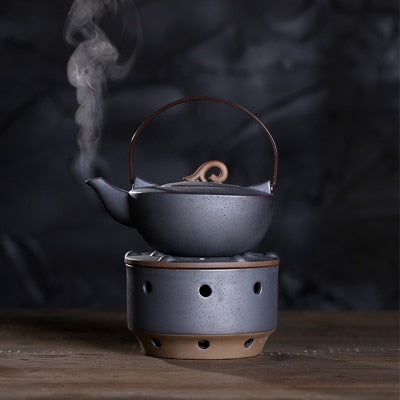 Ceramic Japanese Style Tea Kettle with heating plate