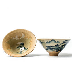 Hand Painted Japanese Teacup Coarse Pottery Gong Fu Tea Cup