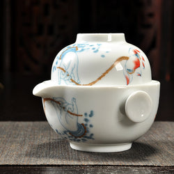 Porcelain Easy Gaiwan One Cup Set