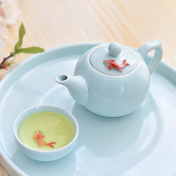 Celadon Koi Fish Tea Pot