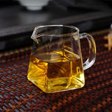 Square Glass Fair Teacup