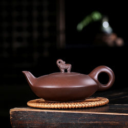Yixing Zisha Elephant Lid Gong Fu Tea Pot