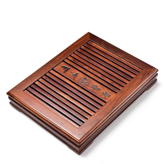 Solid Wood Tea Tray with Pull Out Tray