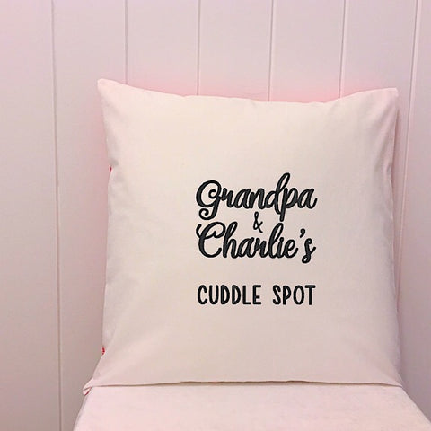 Grandpa's Cuddle Spot Cushion