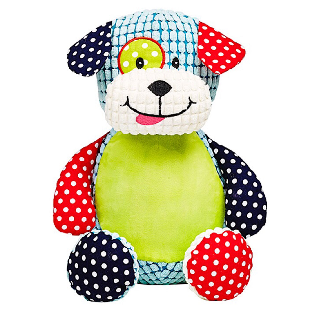 Barkley Bone the Harlequin Puppy Plushie