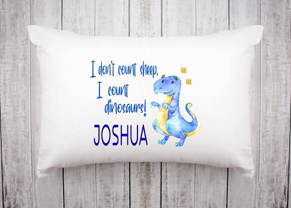 Counting Dinosaurs Pillowcase