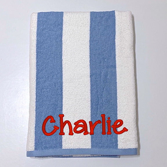 Denim Blue Stripe Beach Towel