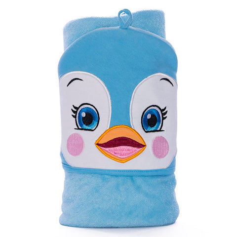 Puddles Penguin Hooded Towel