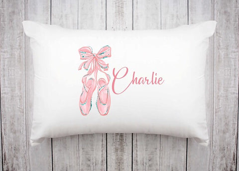 Ballerina Slippers Pillowcase