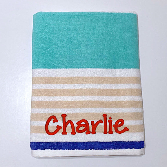 Whitehaven Stripe Beach Towel