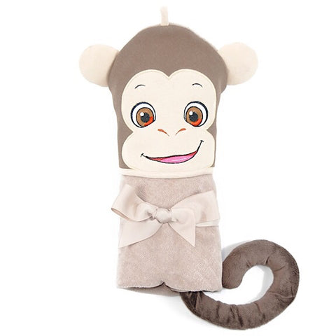 Huggles Monkey Hooded Towel