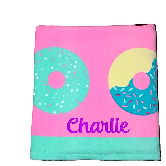 Mmmm Donuts Beach Towel