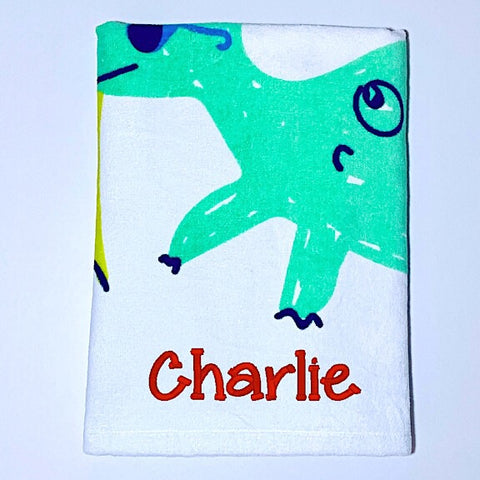 Dinosaur Beach Bum Beach Towel