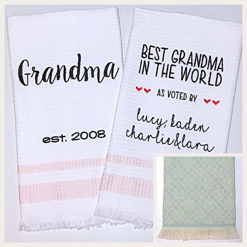 Grandma 2-pack of Tea Towels in Mint