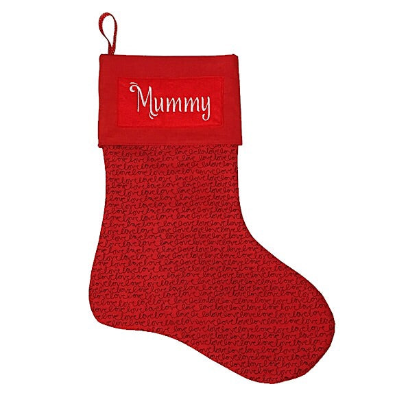 Lovely Red Christmas Stocking