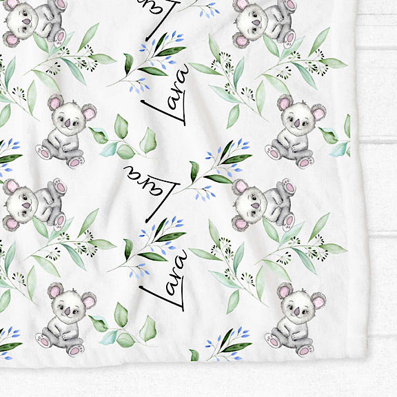 Koala Personalised Fleece Blanket