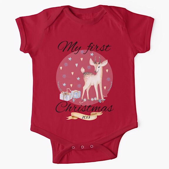 Blue Deer Christmas Onesie/Tshirt