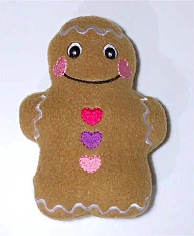 Gingerbread Man Stocking Stuffer (pink buttons)