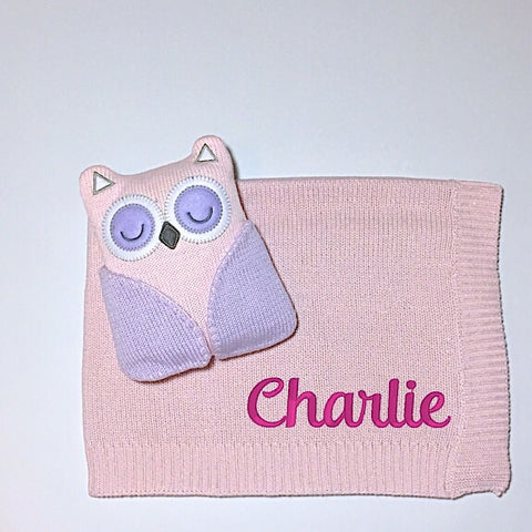 Owl Toy and Blanket Set