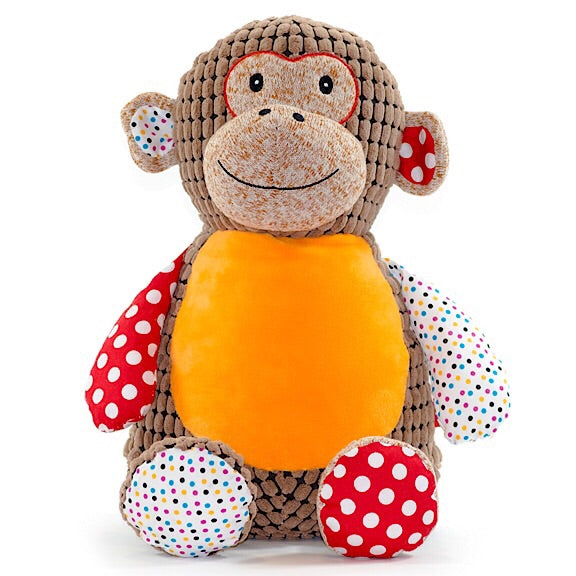 Huggles the Brown Harlequin Monkey Plushie