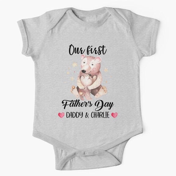 Papa Bear First Father's Day Onesie