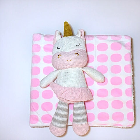 Unicorn Toy and Blanket Set