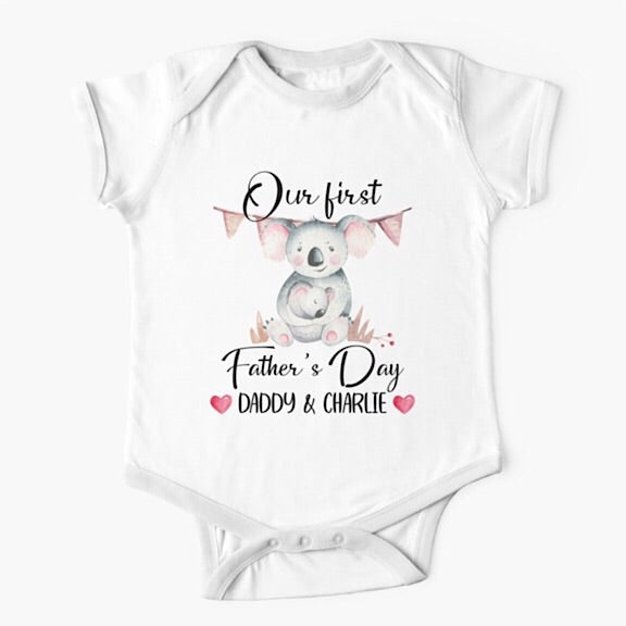 Daddy Koala First Father's Day Onesie