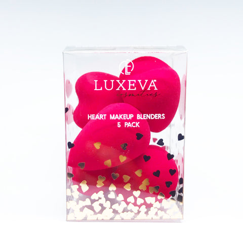 Heart Makeup Blender - 5pk