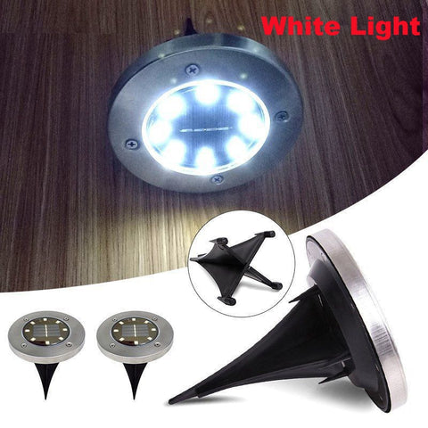 3 Pcs Waterproof 8-LED Dusk to Dawn Garden/Yard Night Light - Solar Powered - FREE SHIPPING